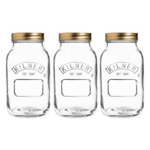 Kilner 34 oz. Preserve Twist Top Canning Jars (Set of 3)