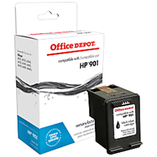 Office Depot Brand ODC653AN (HP 901) Remanufactured Black Ink Cartridge