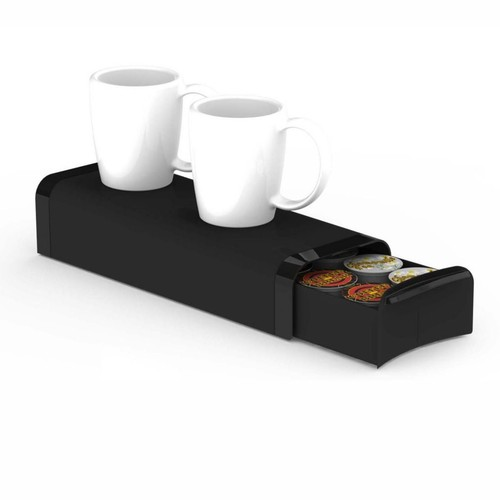 Mind Reader Slim Coffee Pod Storage Drawer For 12 K-Cup, Black (TRY03-BLK)