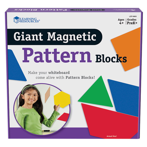 Learning Resources Giant Magnetic Pattern Blocks Set