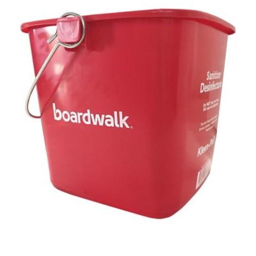 Boardwalk Kleen-Pail Sanitizing Bucket, 6 Qt, Red, Plastic