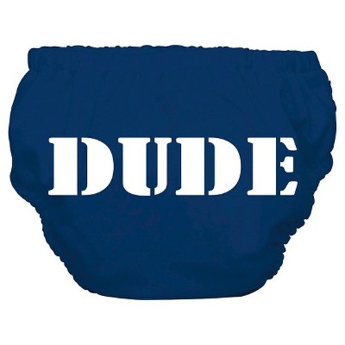 Charlie Banana Reusable Swim Diaper Blue, Dude, XL
