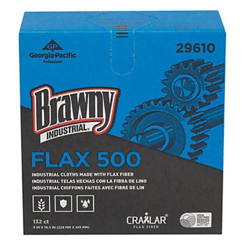 Brawny Industrial FLAX 500 Light-Duty Cloths, Unscented, 9