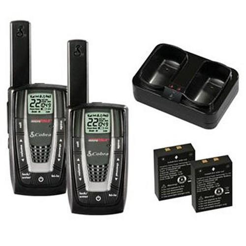 PAIR COBRA CXR725 27 Mile 22 Channel FRS/GMRS Walkie Talkie 2-Way Radios