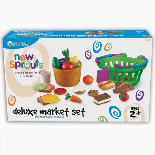 Learning Resources Pretend Play New Sprouts Deluxe Market Set