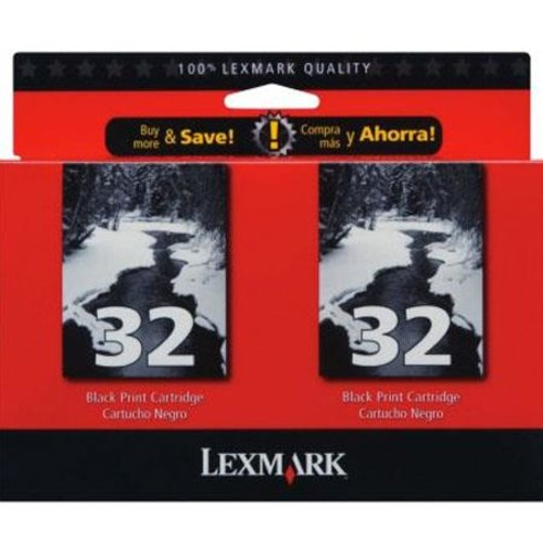 Lexmark #32/ Black InkJet Print Cartridge Multipack #18C0533 18C0533