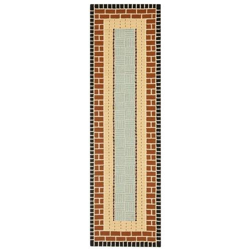 Safavieh Four Seasons Stain Resistant Hand-hooked Brown Rug (2' x 6')