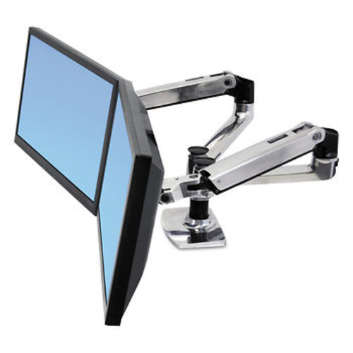 Ergotron LX Dual Side-by-Side Arm for WorkFit-D Sit-Stand Desk