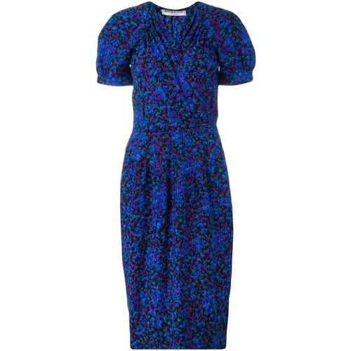 YVES SAINT LAURENT VINTAGE Floral Wrap Dress