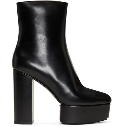 ALEXANDER WANG Black Cora Heeled Platform Boots