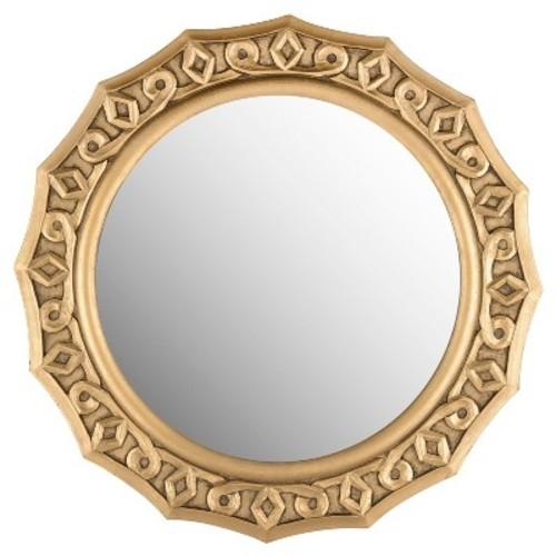 Round Gossamer Lace Decorative Wall Mirror Gold - Safavieh