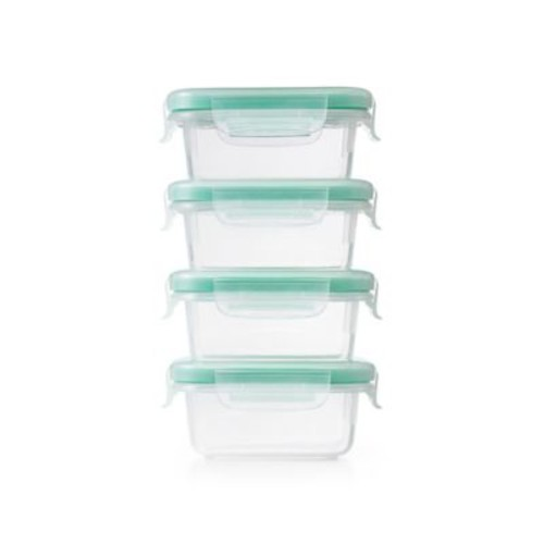 OXO Good Grips Smart Seal Mini Lock Top 8-Piece Container Set in Clear/Green