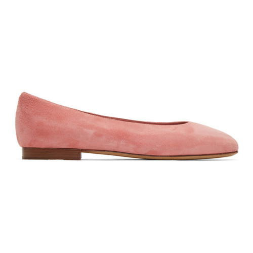 MANSUR GAVRIEL Pink Suede Ballerina Flats