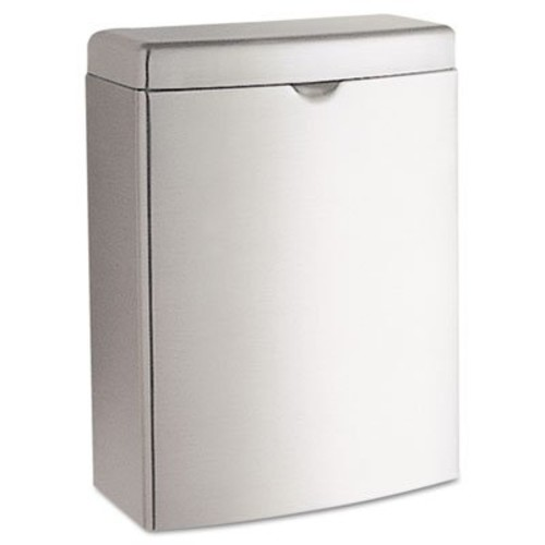 Contura Sanitary Napkin Receptacle, Rectangular, Stainless Steel, 1gal, Sold as 1 Each, 6PACK , Total 6 Each