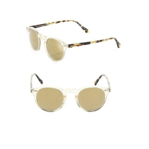 Gregory Peck 47MM Round Sunglasses