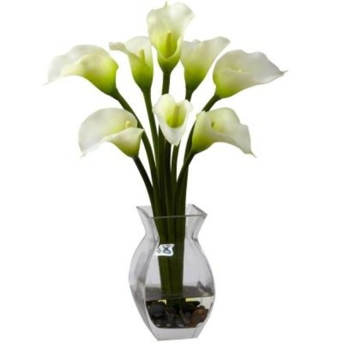 Nearly Natural Classic Calla Lily Arrangement in Cream