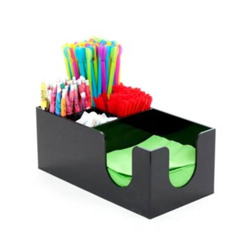 Mind Reader 5-Compartment Condiment Organizer in Black