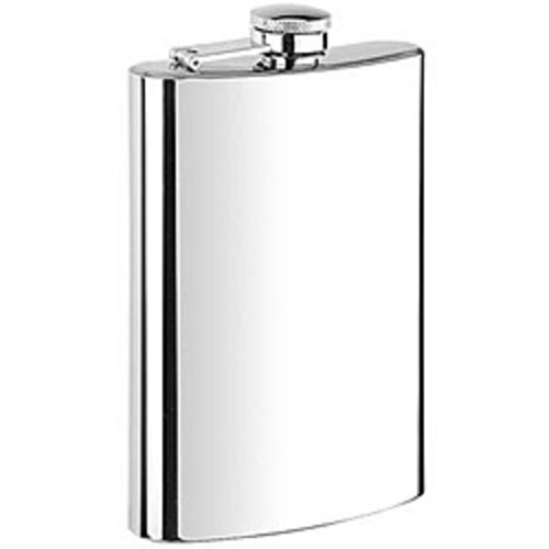 Visol Ray Mirror Finish Stainless Steel Deluxe Flask Gift Set - 8 ounces