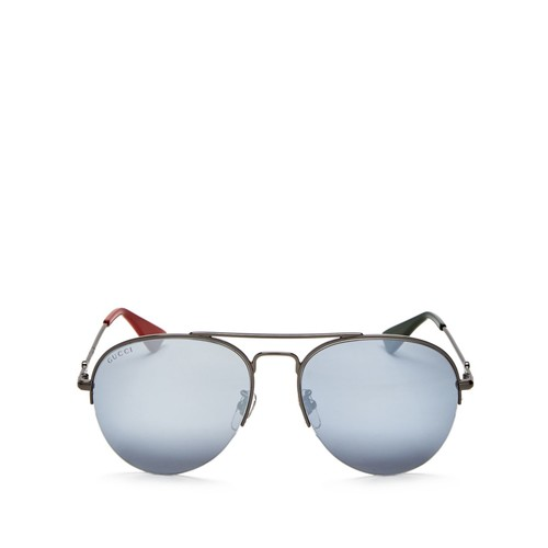 GUCCI Mirrored Mirrored Aviator Sunglasses, 56Mm