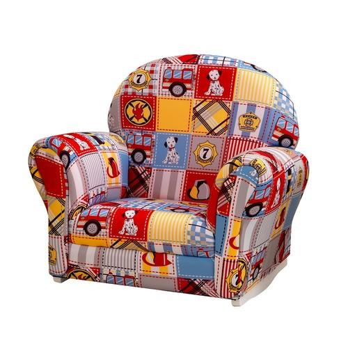 KidKraft Upholstered Firefighter Rocker & Slipcover