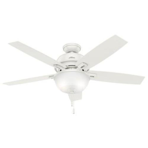 Hunter Donegan 52 in. LED Indoor Fresh White Ceiling Fan with Light Kit