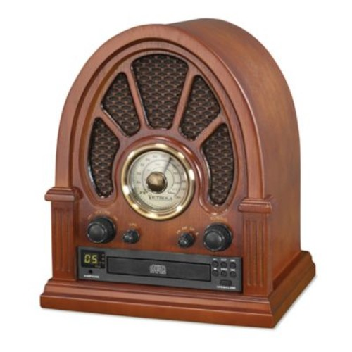 Victrola Bluetooth Radio With CD Player in Brown