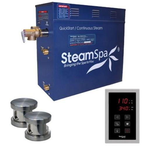 Steam Spa Oasis 10.5 kW QuickStart Steam Bath Generator Package; Brushed Nickel