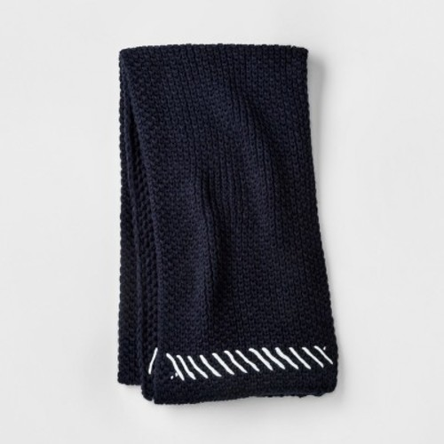 Women's Scarf with Off White Stitch - Mossimo Supply Co. Navy