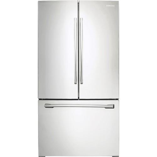 Samsung - 25.5 Cu. Ft. French Door Refrigerator with Internal Water Dispenser - White
