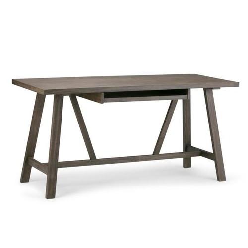 Simpli Home Dylan Driftwood Finish Desk