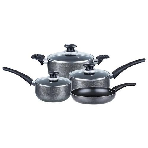 Brentwood - 7-Piece Cookware Set - Gray
