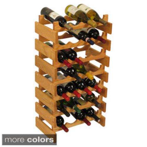 21-bottle Stackable Wood Dakota Wine Rack