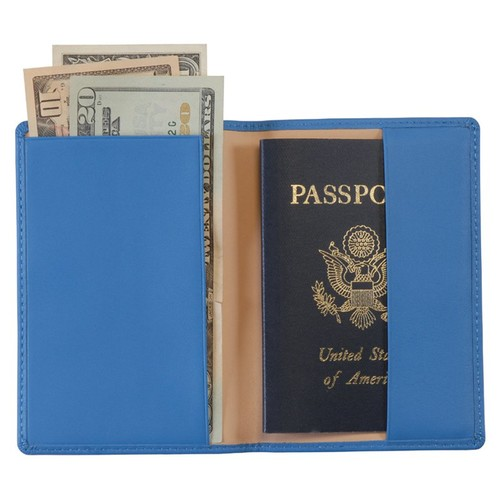 Royce Leather Genuine Leather Passport Holder and Travel Document Organizer