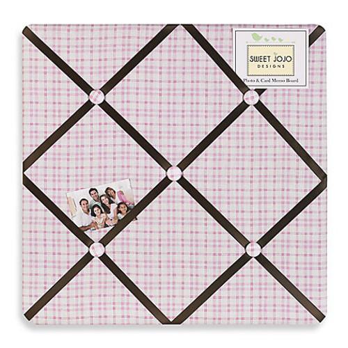 Sweet Jojo Designs Teddy Bear Fabric Memo Board in Pink/Chocolate