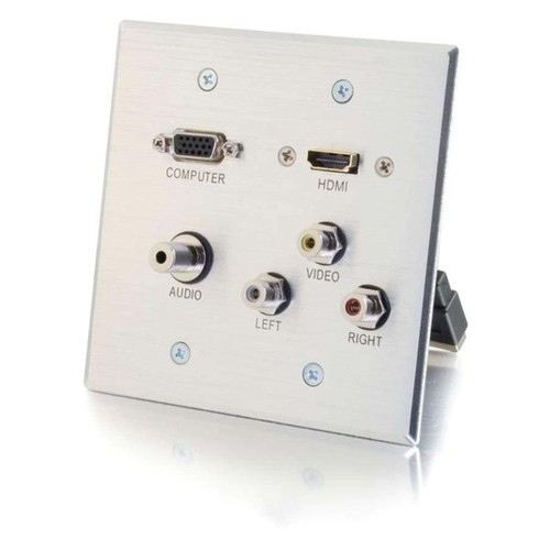 C2G HDMI,VGA,3.5mm,Composite Video and Stereo Audio Pass-through Wall