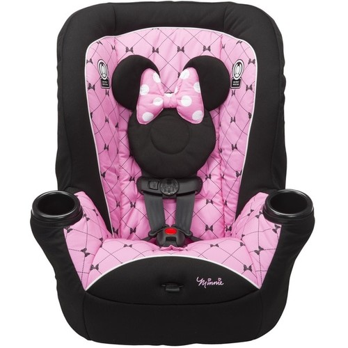 Disney Baby APT 40RF 'Kriss Kross Minnie' Pink/Black Fabric Convertible Car Seat
