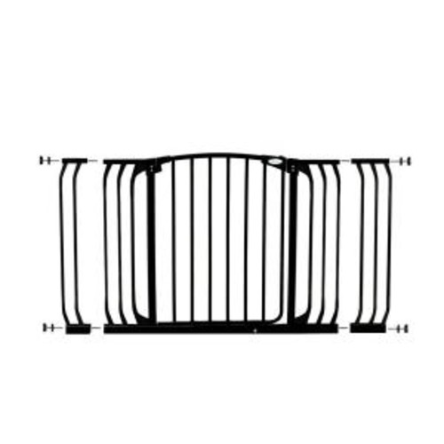 Dreambaby Chelsea 29.5 in. H Standard Height and Extra Wide Auto-Close Security Gate in Black with Extensions