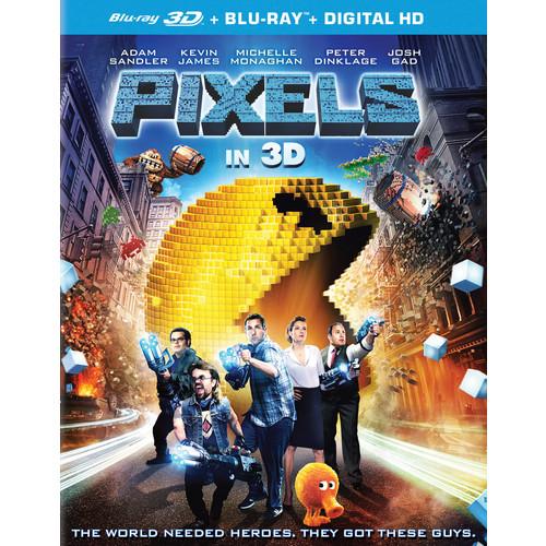 Pixels [3D] [Blu-ray] [2 Discs] [Blu-ray/Blu-ray 3D] [2015]