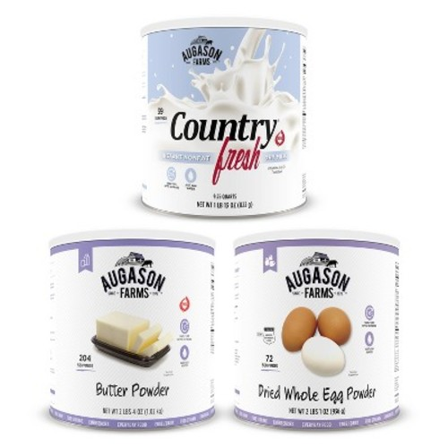 Augason Farms Dairy & Egg Combo Variety Kit - 3pk