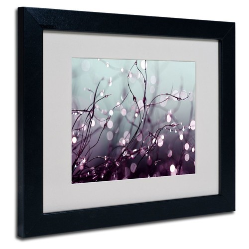 Trademark Fine Art Beata Czyzowska Young 'Somewhere Over the Rainbow' Matted Art Blk Frame 11x14 In