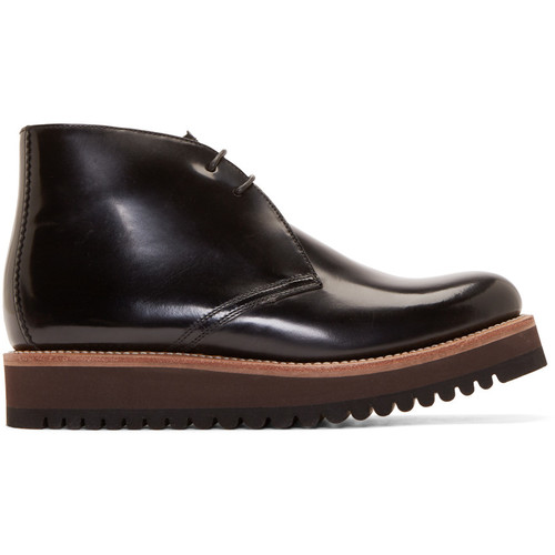 Black Patent Leather Gregory Boots