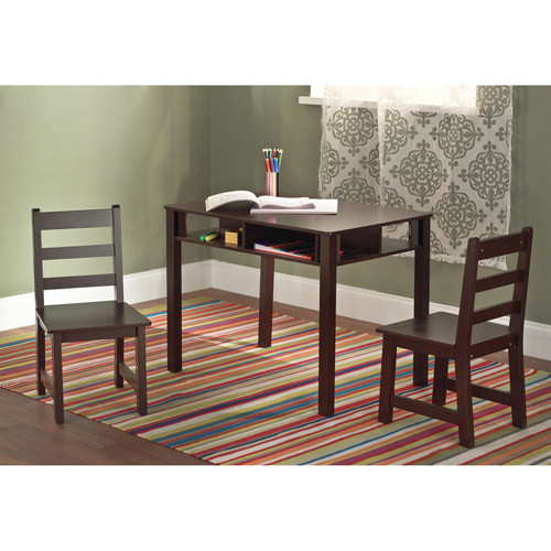 Kids Table and Chairs Set - Espresso