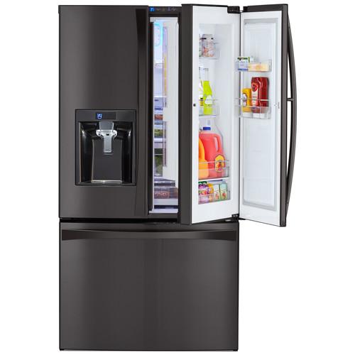 Kenmore Elite 73167 28.5 cu. ft. French Door Refrigerator  Black Stainless Steel