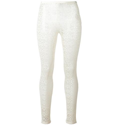 STELLA MCCARTNEY Sheer Lace Detail Leggings