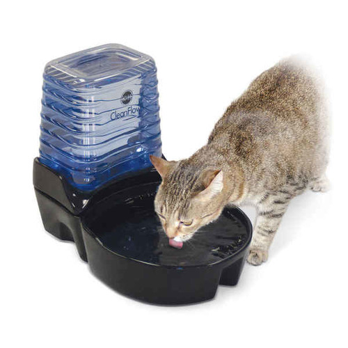 K&H Pet Products CleanFlow Cat Ceramic Fountain with Reservoir