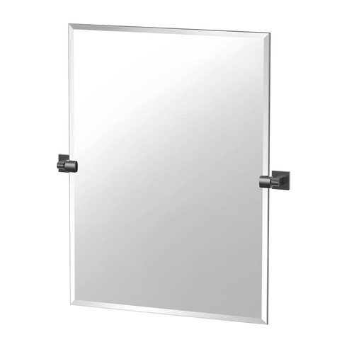 Gatco Elevate 31.5 in. x 27.5 in. Frameless Rectangle Mirror in Matte Black