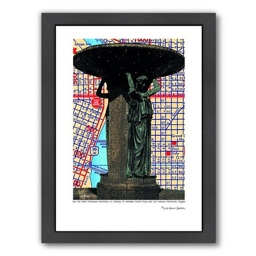 Americanflat Skidmore Fountain Portland Framed Wall Art
