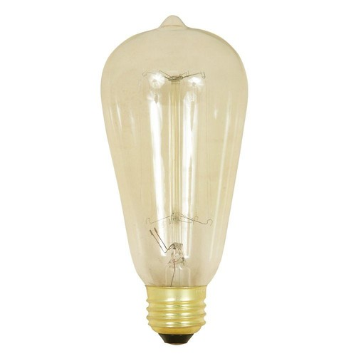 Feit Electric 60-Watt Soft White ST19 Incandescent Original Vintage Style Light Bulb (Case of 6)