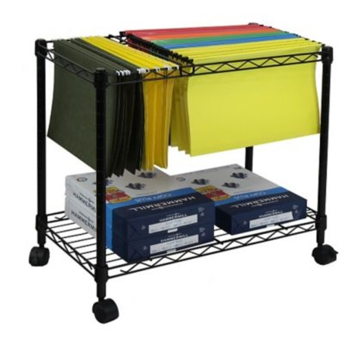 Oceanstar Design Portable 1-Tier Metal Rolling File Cart