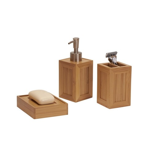 Essentials Bamboo 3-Piece Vanity Set